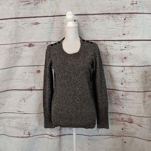 J.Crew Merino Wool Shoulder Button Sweater Size M